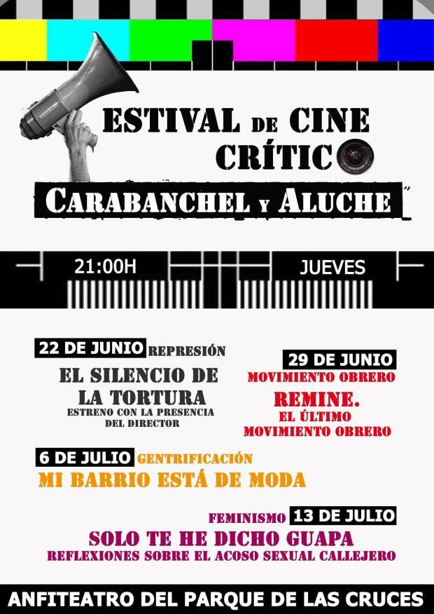 cartel festival de cine crítico carabanchel y aluche